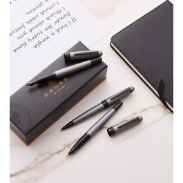Bailey Matte Gray Lacquer Fountain Pen