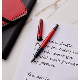 Bailey Matte Red Lacquer Fountain Pen