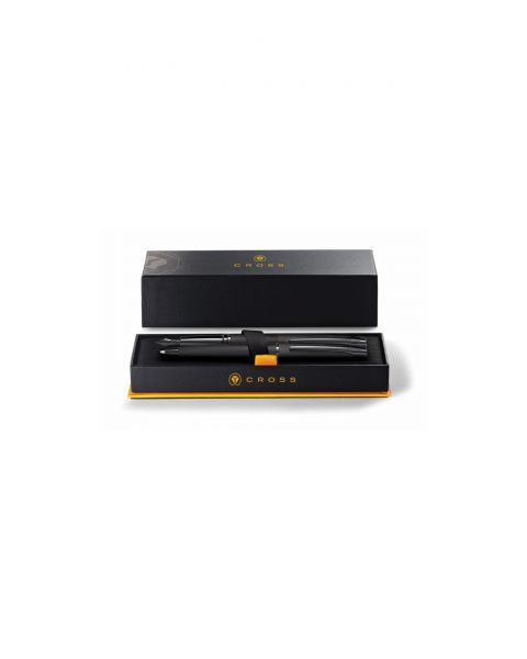 ATX Brushed Black PVD Ballpoint Pen & Fountain Pen (Medium) Gift Set