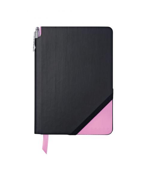 Black & Pink Medium Jotzone with Pen - Blank Paper