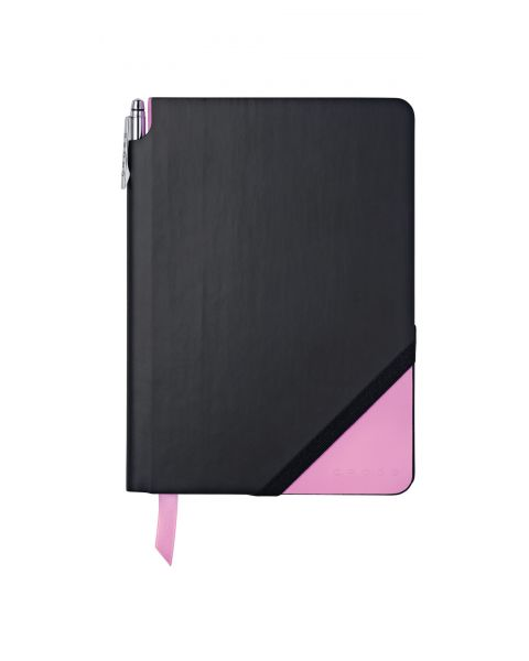 Black & Pink Medium Jotzone with Pen - Graph Paper