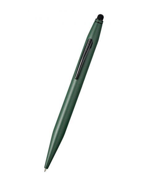 Stylo à bille Tech 2 vert mat avec stylet