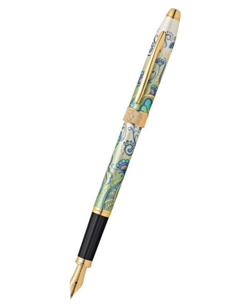 Botanica Green Daylily Fountain Pen