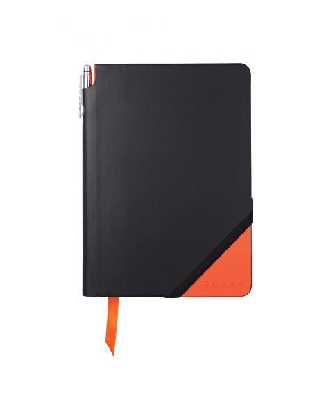 Black & Orange Medium Jotzone with Pen - Graph Paper