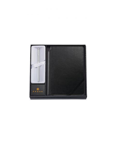 Classic Century Verchromter Tintenroller mit mittlerem klassischem schwarzem Journal