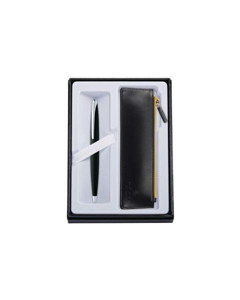 ATX Bolígrafo Negro Basalto con Funda Negra Clásica