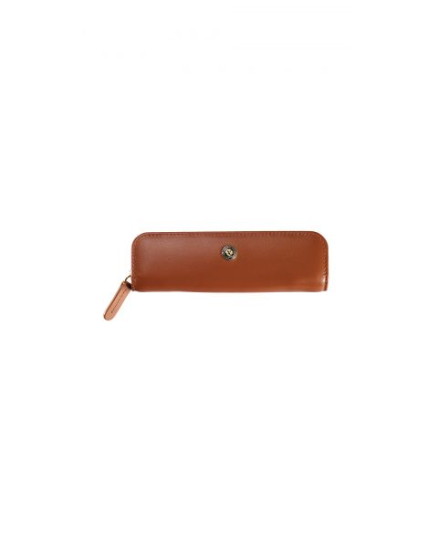 Tan Zip Pen Pouch