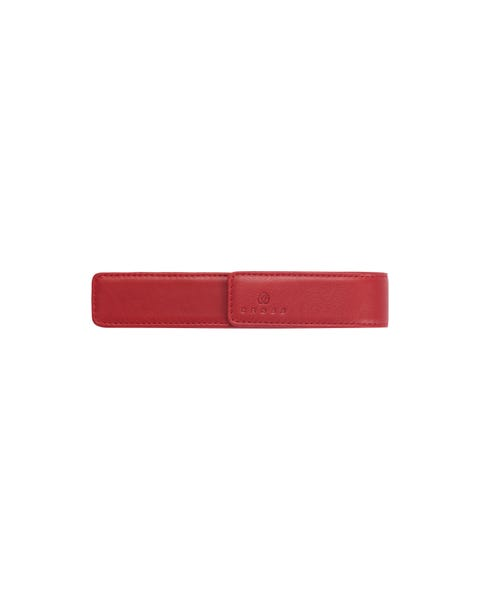 Crimson Leather Single Pen Pouch
