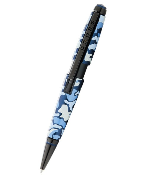 Stylo à bille roulante Edge Blue Camo Gel