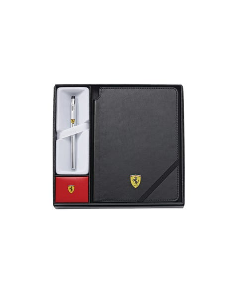 Cross Century II Collection for Scuderia Ferrari Polished Chrome Rollerball Pen and Journal Gift Set