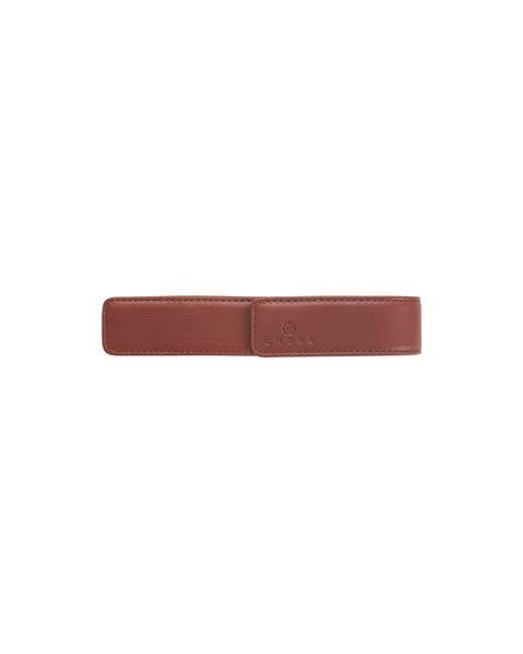 Tan Leather Single Pen Pouch