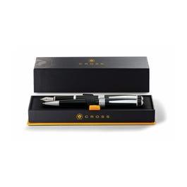 Bailey Black Lacquer Ballpoint Pen & Fountain Pen (Medium) Gift Set