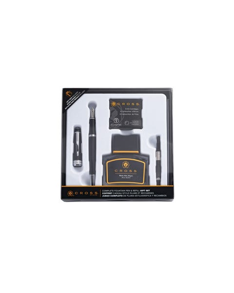 Bailey Black Lacquer Fountain Pen Gift Set