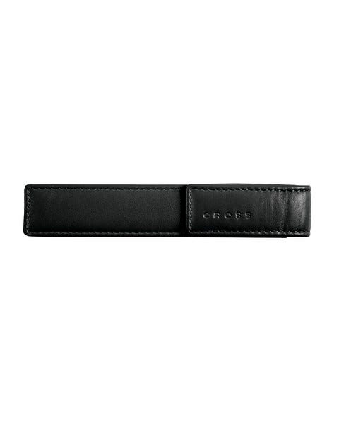 Single Pen Black Leather Pouch