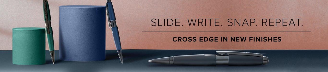 Cross Edge Capless Slide Open Gel Ink Pen-New