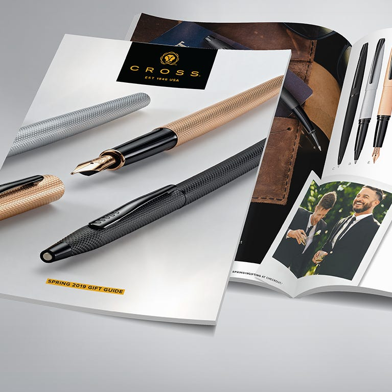 Buy a pen as a gift with the Cross gift guide booklet.