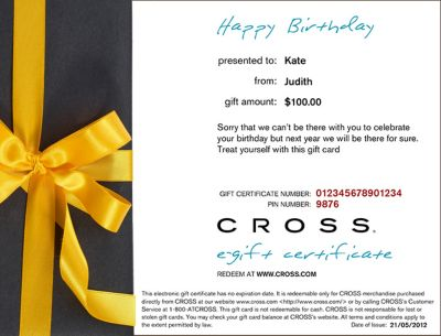How To Buy A Cross Gift Certificate